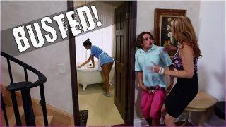 BANGBROS – Stepmom Julia Ann Threesome & Latina Maid Abby Lee Brazil