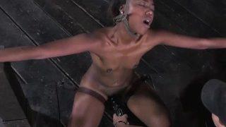 Exotic Hottie Mahina Zaltana Bound and Face Fucked with Harsh Nipple Clamps